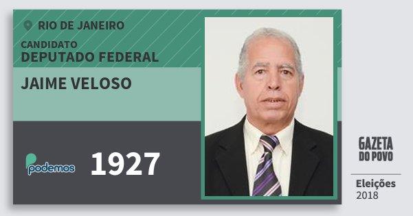 Santinho Jaime Veloso 1927 (PODE) Deputado Federal | Rio de Janeiro | Eleições 2018