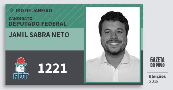 Santinho Jamil Sabra Neto 1221 (PDT) Deputado Federal | Rio de Janeiro | Eleições 2018