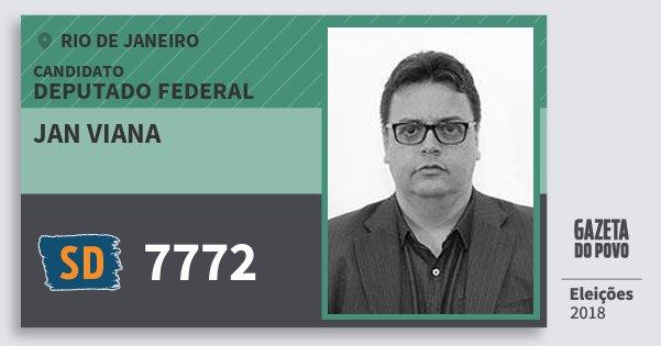 Santinho Jan Viana 7772 (SOLIDARIEDADE) Deputado Federal | Rio de Janeiro | Eleições 2018