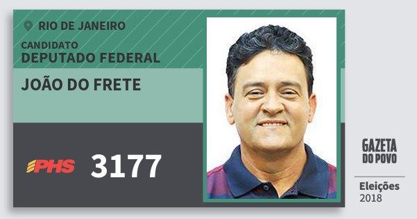 Santinho João do Frete 3177 (PHS) Deputado Federal | Rio de Janeiro | Eleições 2018