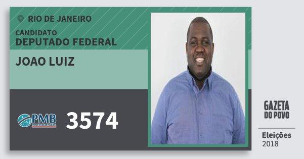 Santinho Joao Luiz 3574 (PMB) Deputado Federal | Rio de Janeiro | Eleições 2018
