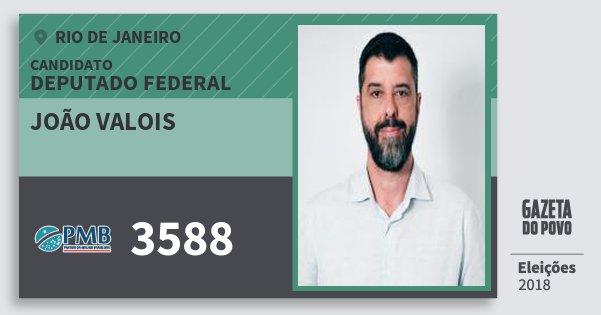 Santinho João Valois 3588 (PMB) Deputado Federal | Rio de Janeiro | Eleições 2018