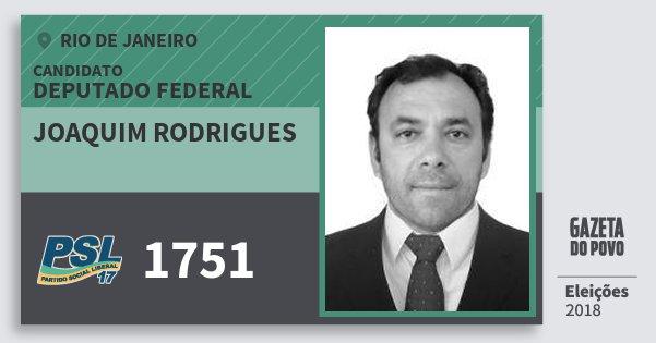 Santinho Joaquim Rodrigues 1751 (PSL) Deputado Federal | Rio de Janeiro | Eleições 2018