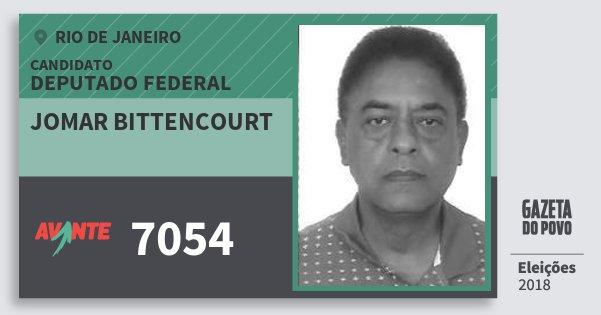 Santinho Jomar Bittencourt 7054 (AVANTE) Deputado Federal | Rio de Janeiro | Eleições 2018