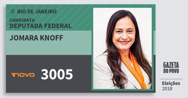Santinho Jomara Knoff 3005 (NOVO) Deputada Federal | Rio de Janeiro | Eleições 2018