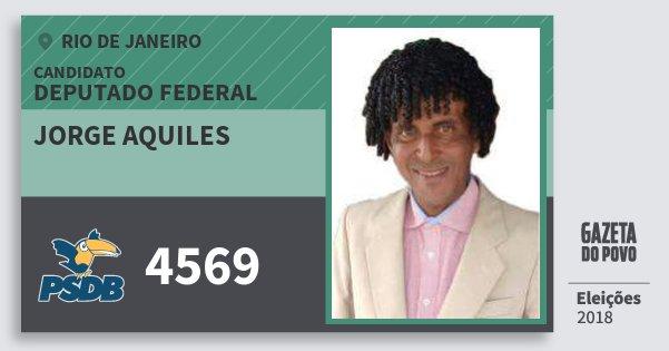Santinho Jorge Aquiles 4569 (PSDB) Deputado Federal | Rio de Janeiro | Eleições 2018