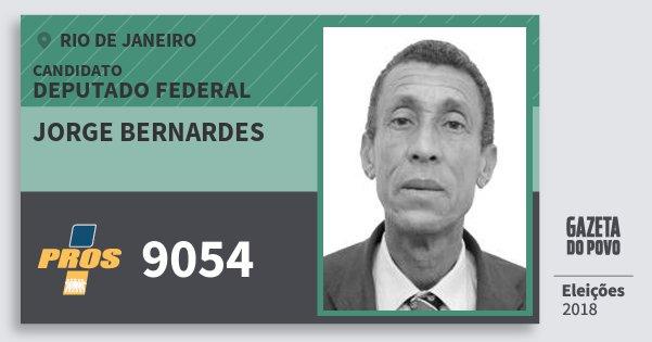 Santinho Jorge Bernardes 9054 (PROS) Deputado Federal | Rio de Janeiro | Eleições 2018