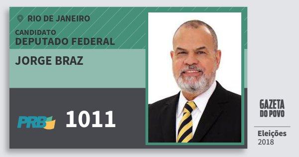 Santinho Jorge Braz 1011 (PRB) Deputado Federal | Rio de Janeiro | Eleições 2018