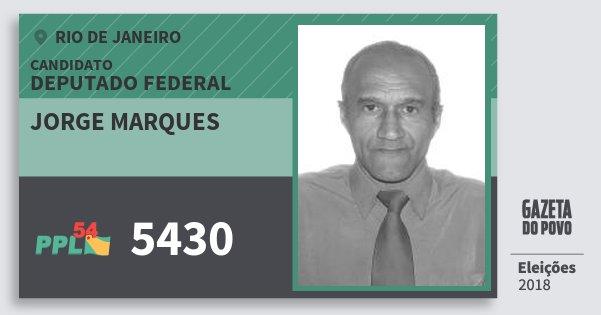 Santinho Jorge Marques 5430 (PPL) Deputado Federal | Rio de Janeiro | Eleições 2018