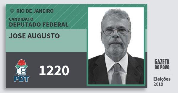 Santinho Jose Augusto 1220 (PDT) Deputado Federal | Rio de Janeiro | Eleições 2018