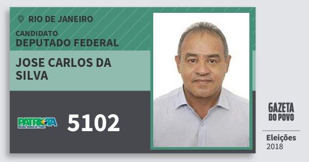 Santinho Jose Carlos da Silva 5102 (PATRI) Deputado Federal | Rio de Janeiro | Eleições 2018