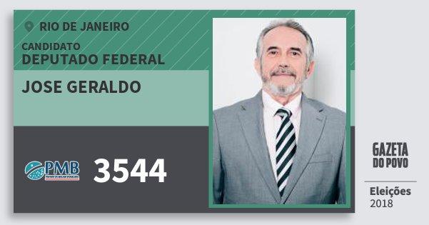 Santinho Jose Geraldo 3544 (PMB) Deputado Federal | Rio de Janeiro | Eleições 2018