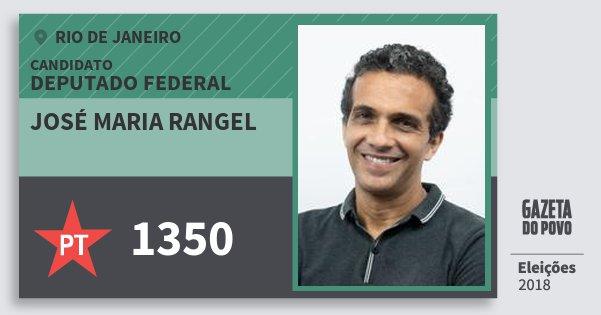 Santinho José Maria Rangel 1350 (PT) Deputado Federal | Rio de Janeiro | Eleições 2018