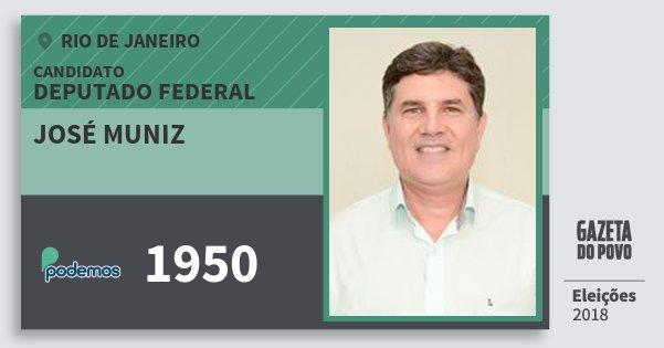 Santinho José Muniz 1950 (PODE) Deputado Federal | Rio de Janeiro | Eleições 2018