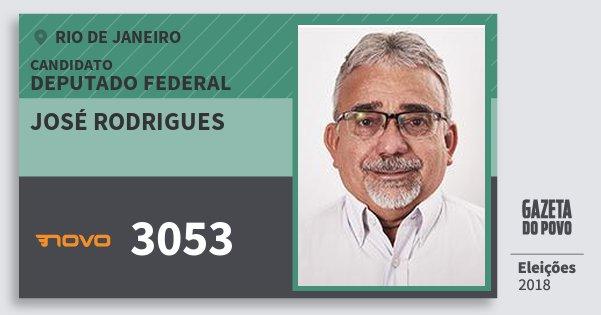 Santinho José Rodrigues 3053 (NOVO) Deputado Federal | Rio de Janeiro | Eleições 2018