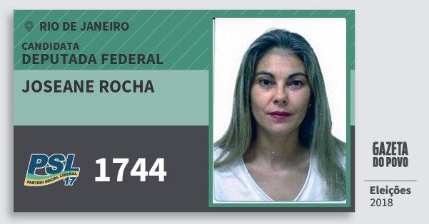 Santinho Joseane Rocha 1744 (PSL) Deputada Federal | Rio de Janeiro | Eleições 2018