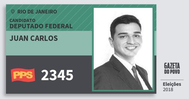 Santinho Juan Carlos 2345 (PPS) Deputado Federal | Rio de Janeiro | Eleições 2018