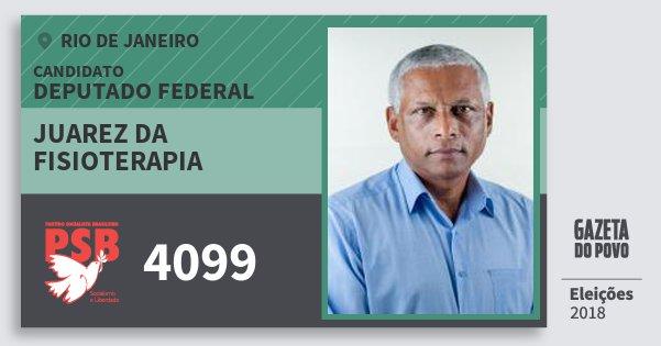 Santinho Juarez da Fisioterapia 4099 (PSB) Deputado Federal | Rio de Janeiro | Eleições 2018