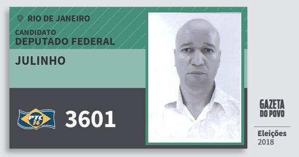 Santinho Julinho 3601 (PTC) Deputado Federal | Rio de Janeiro | Eleições 2018