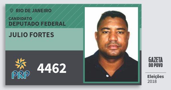 Santinho Julio Fortes 4462 (PRP) Deputado Federal | Rio de Janeiro | Eleições 2018