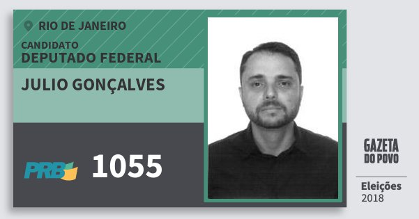 Santinho Julio Gonçalves 1055 (PRB) Deputado Federal | Rio de Janeiro | Eleições 2018