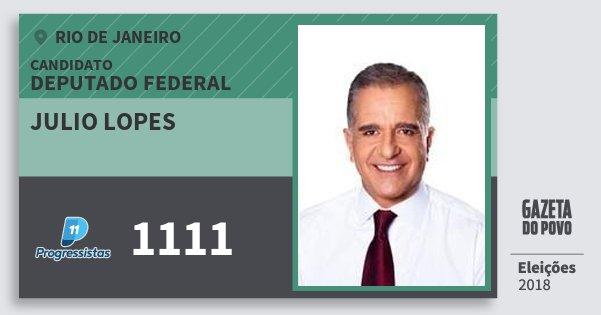 Santinho Julio Lopes 1111 (PP) Deputado Federal | Rio de Janeiro | Eleições 2018