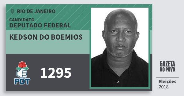 Santinho Kedson do Boemios 1295 (PDT) Deputado Federal | Rio de Janeiro | Eleições 2018
