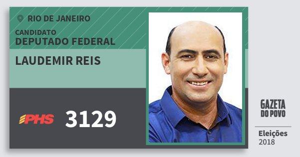 Santinho Laudemir Reis 3129 (PHS) Deputado Federal | Rio de Janeiro | Eleições 2018