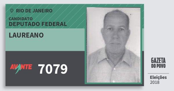 Santinho Laureano 7079 (AVANTE) Deputado Federal | Rio de Janeiro | Eleições 2018