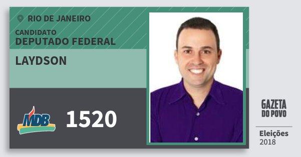 Santinho Laydson 1520 (MDB) Deputado Federal | Rio de Janeiro | Eleições 2018