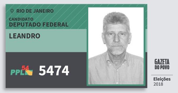 Santinho Leandro 5474 (PPL) Deputado Federal | Rio de Janeiro | Eleições 2018