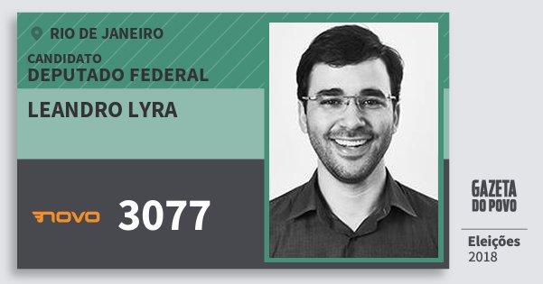 Santinho Leandro Lyra 3077 (NOVO) Deputado Federal | Rio de Janeiro | Eleições 2018