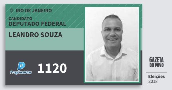 Santinho Leandro Souza 1120 (PP) Deputado Federal | Rio de Janeiro | Eleições 2018