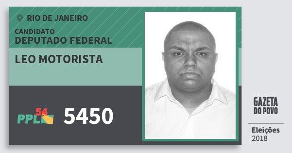 Santinho Leo Motorista 5450 (PPL) Deputado Federal | Rio de Janeiro | Eleições 2018