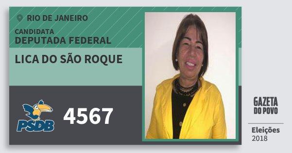 Santinho Lica do São Roque 4567 (PSDB) Deputada Federal | Rio de Janeiro | Eleições 2018
