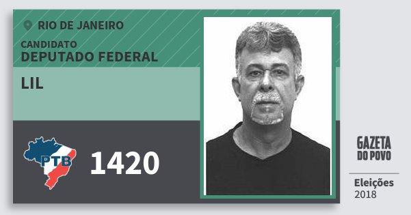 Santinho Lil 1420 (PTB) Deputado Federal | Rio de Janeiro | Eleições 2018