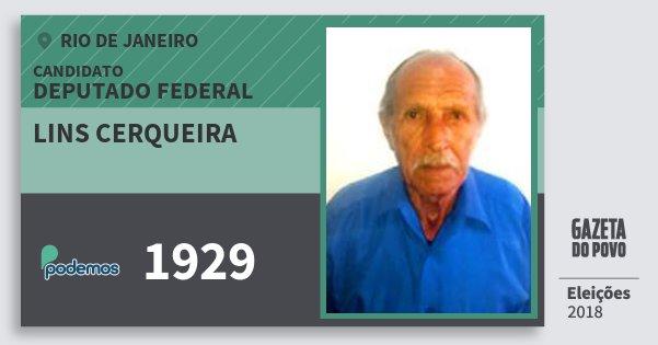 Santinho Lins Cerqueira 1929 (PODE) Deputado Federal | Rio de Janeiro | Eleições 2018