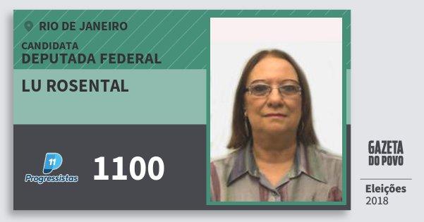 Santinho Lu Rosental 1100 (PP) Deputada Federal | Rio de Janeiro | Eleições 2018