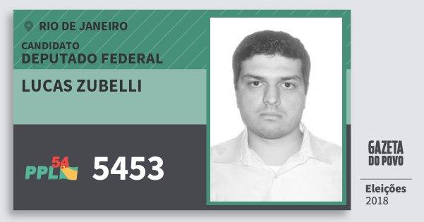 Santinho Lucas Zubelli 5453 (PPL) Deputado Federal | Rio de Janeiro | Eleições 2018