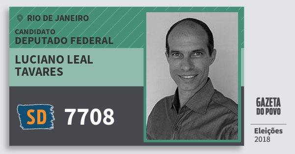 Santinho Luciano Leal Tavares 7708 (SOLIDARIEDADE) Deputado Federal | Rio de Janeiro | Eleições 2018