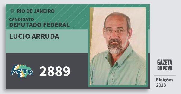 Santinho Lucio Arruda 2889 (PRTB) Deputado Federal | Rio de Janeiro | Eleições 2018
