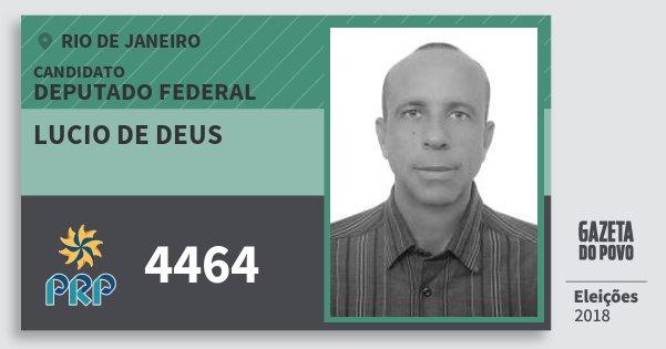Santinho Lucio de Deus 4464 (PRP) Deputado Federal | Rio de Janeiro | Eleições 2018