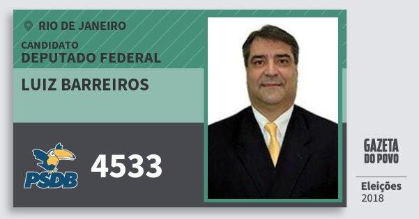 Santinho Luiz Barreiros 4533 (PSDB) Deputado Federal | Rio de Janeiro | Eleições 2018