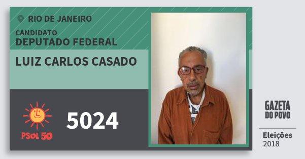 Santinho Luiz Carlos Casado 5024 (PSOL) Deputado Federal | Rio de Janeiro | Eleições 2018
