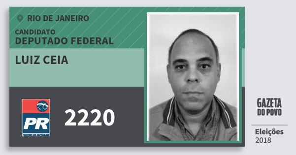 Santinho Luiz Ceia 2220 (PR) Deputado Federal | Rio de Janeiro | Eleições 2018