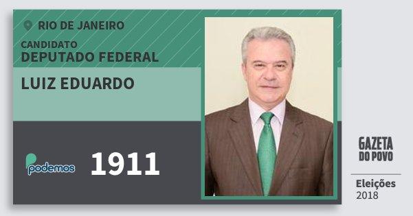 Santinho Luiz Eduardo 1911 (PODE) Deputado Federal   Rio de Janeiro   Eleições 2018