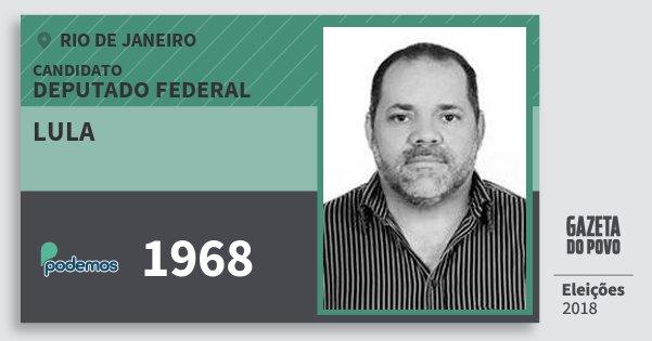 Santinho Lula 1968 (PODE) Deputado Federal | Rio de Janeiro | Eleições 2018