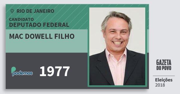 Santinho Mac Dowell Filho 1977 (PODE) Deputado Federal | Rio de Janeiro | Eleições 2018