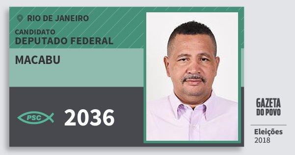 Santinho Macabu 2036 (PSC) Deputado Federal | Rio de Janeiro | Eleições 2018