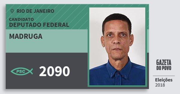Santinho Madruga 2090 (PSC) Deputado Federal | Rio de Janeiro | Eleições 2018